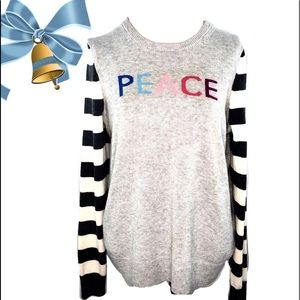 Gap XL Wool/ Nylon Blend Gray Crewneck Sweater